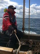 Alan on the helm