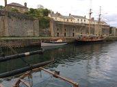 Guiding Star finally berthed in Charlestown