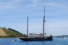 Keewaydin at anchor