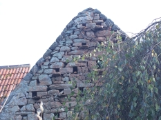 The 1450 part of the building is pierced as a dovecote
