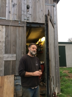 Dave outside his workshop